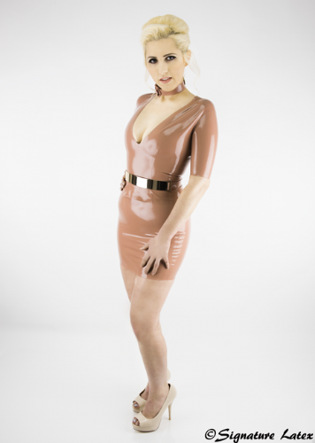 Classic Latex Mini Skirt